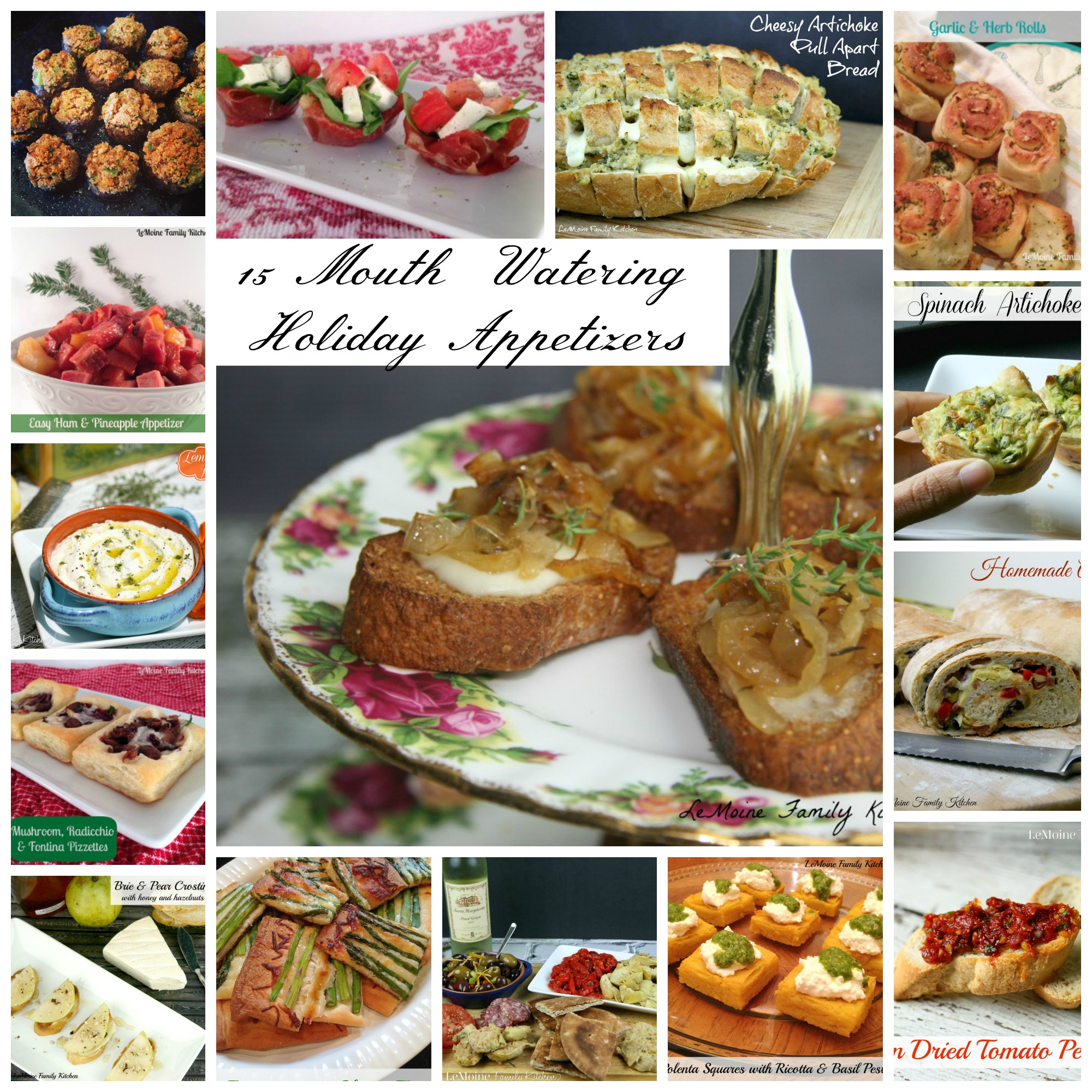 15 Mouth Watering Holiday Appetizers