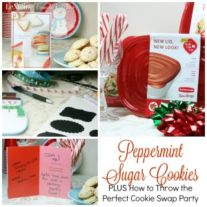 Peppermint Sugar Cookies PLUS How to Throw the Perfect Cookie Swap Party | LeMoine Family Kitchen. These are the perfect cookies for the holidays. Plus Im sharing my tips and tricks to throwing a great cookie swap party! #ad #ShareTheHoliday