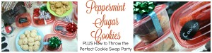 Peppermint Sugar Cookies PLUS How to Throw the Perfect Cookie Swap Party   LeMoine Family Kitchen. These are the perfect cookies for the holidays. Plus Im sharing my tips and tricks to throwing a great cookie swap party! #ad #ShareTheHoliday