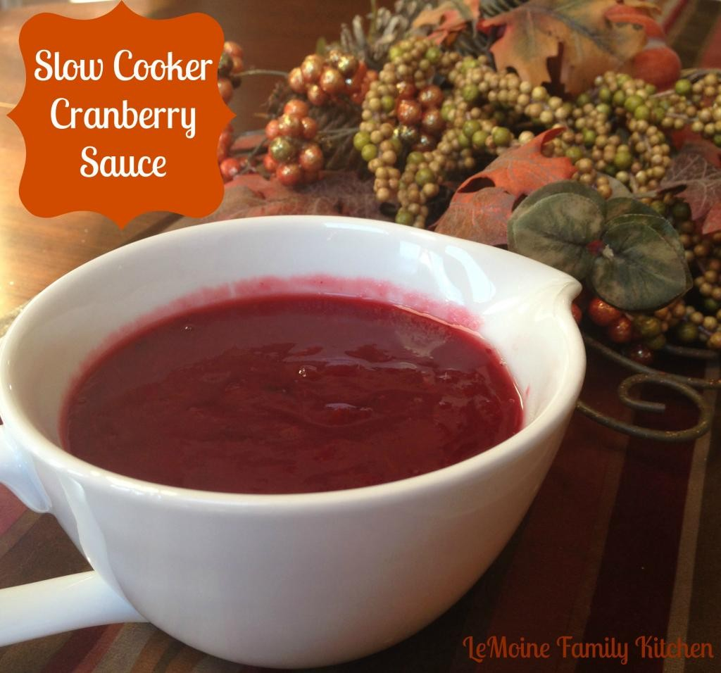 Slow Cooker Cranberry Sauce | LeMoine Family Kitchen