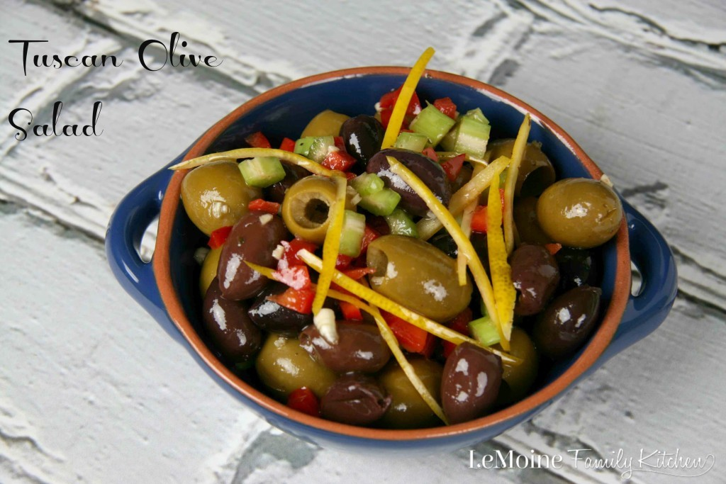 Tuscan Olive Salad| LeMoine Family Kitchen