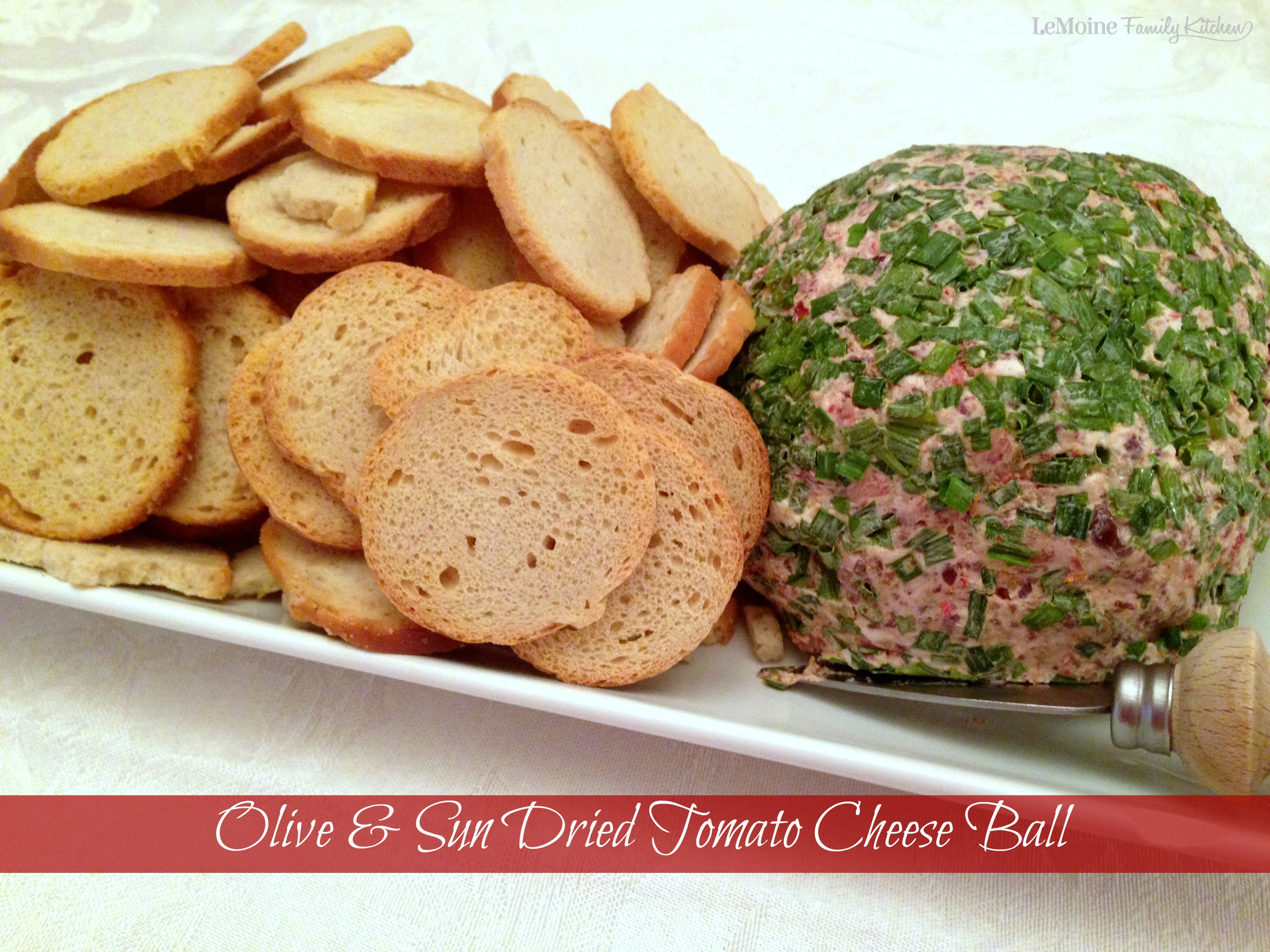 Olive & Sun Dried Tomato Cheese Ball