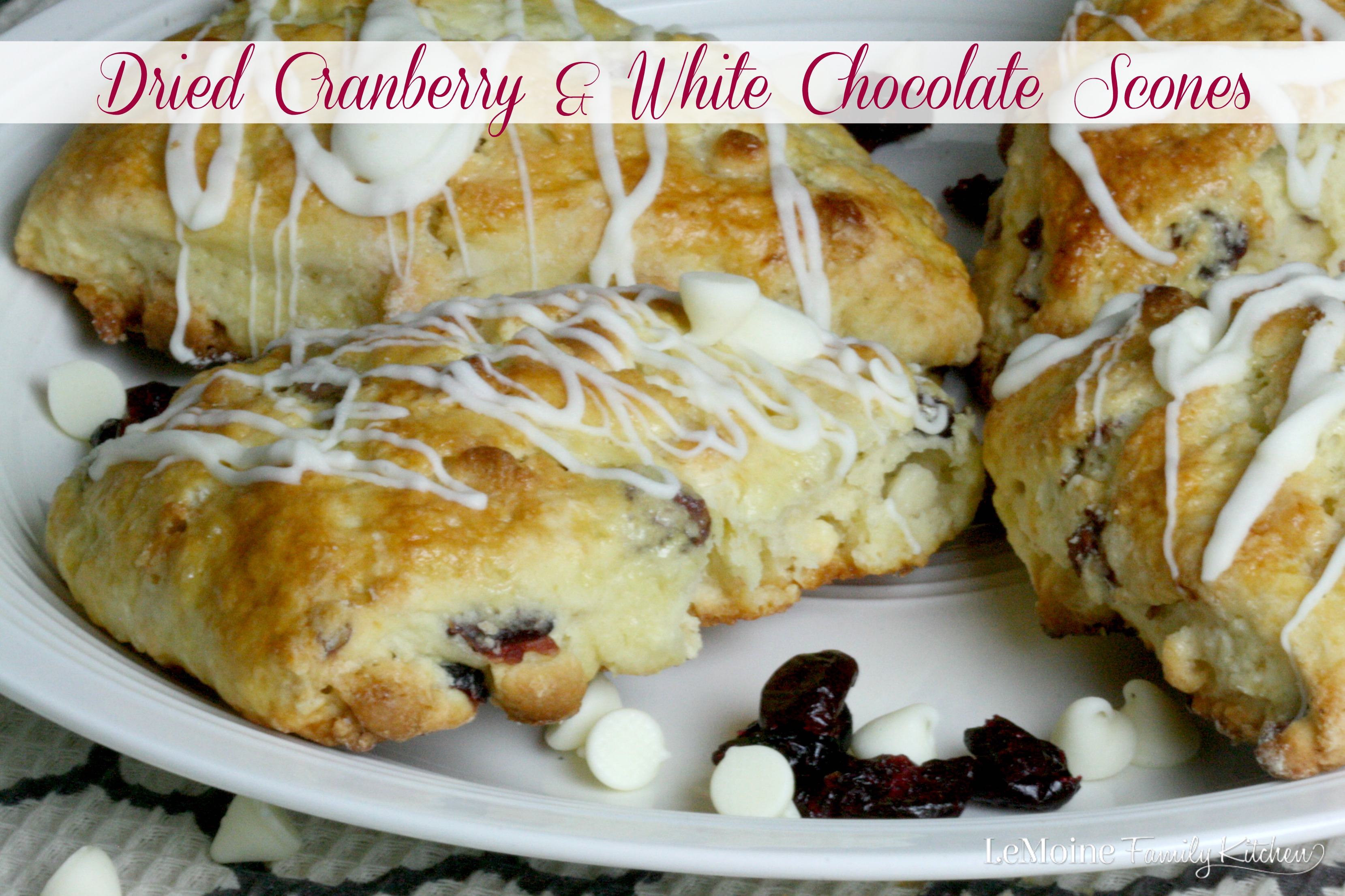 Dried Cranberry & White Chocolate Scones
