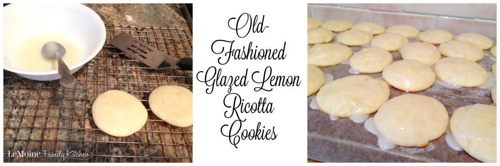 Old-Fashioned Glazed Lemon Ricotta Cookies | LeMoine Family Kitchen . A light, soft, pillowy cookie with a refreshing lemon glaze. These cookies are just heavenly. #FreakyFriday