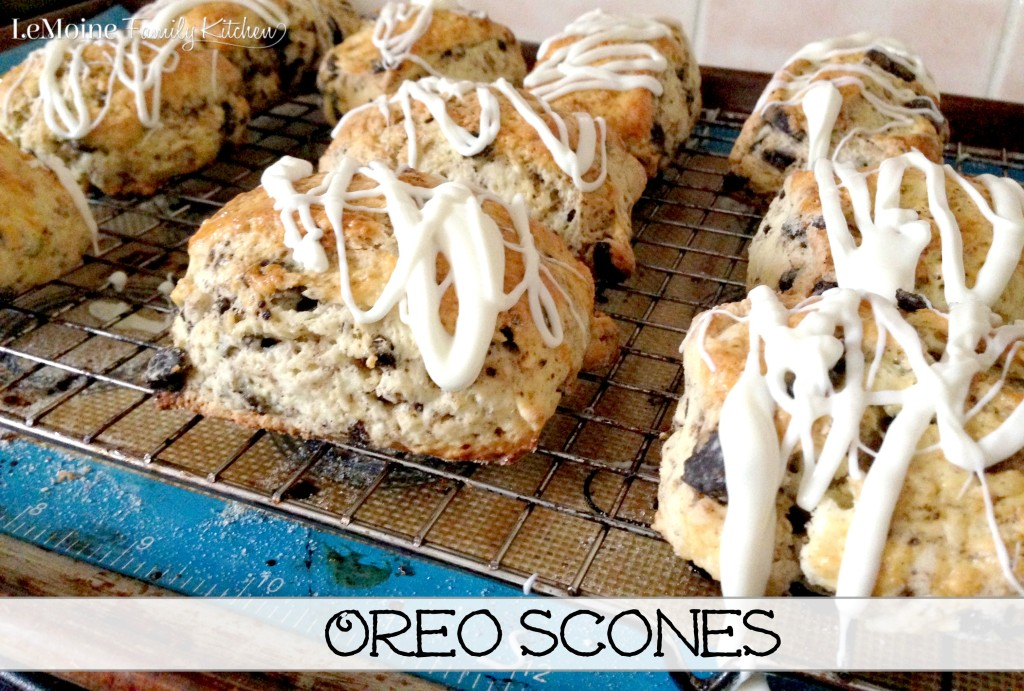 Oreo Scones | LeMoine Family Kitchen . Best Scones EVER!!!! Easy to make and they are so delicious!!