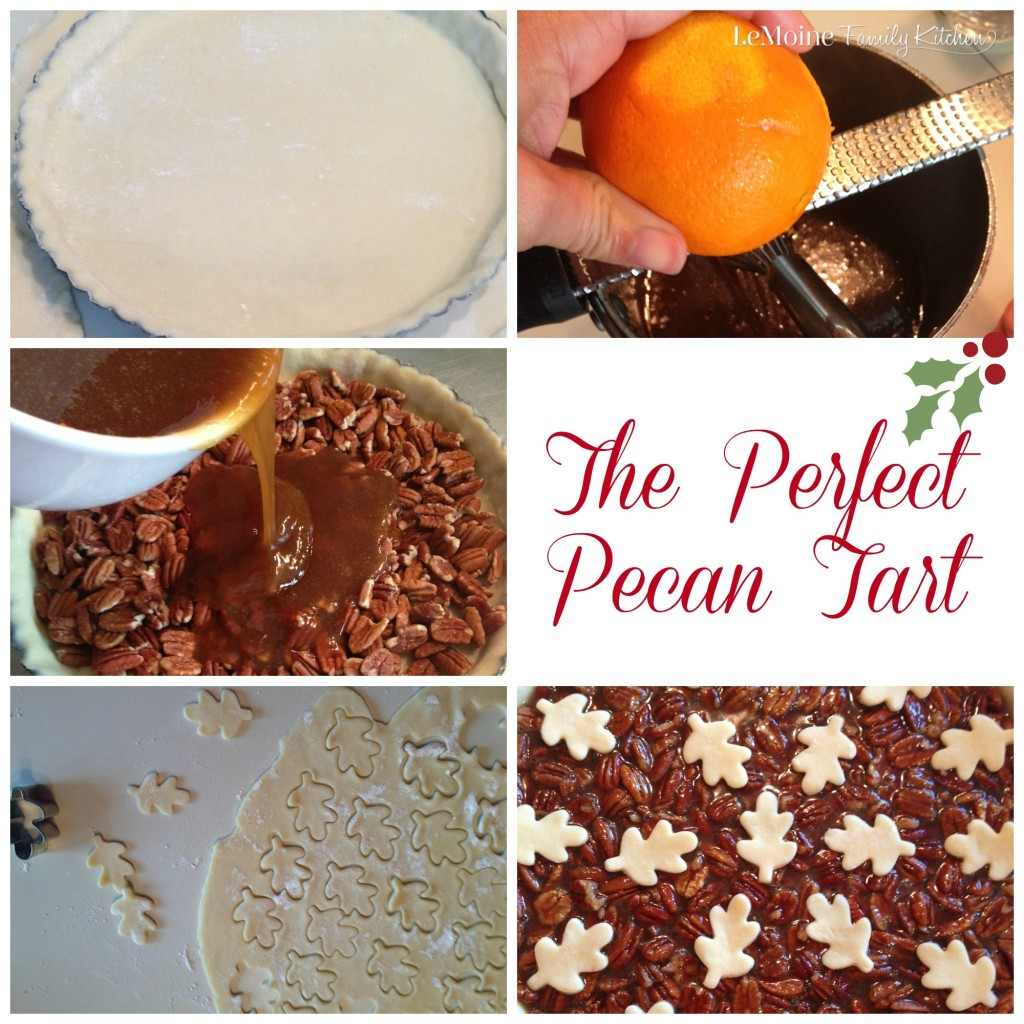 The Perfect Pecan Tart | LeMoine Family Kitchen. A classic dessert that is just perfect for the holidays. Simple recipe and its just beautiful as well!
