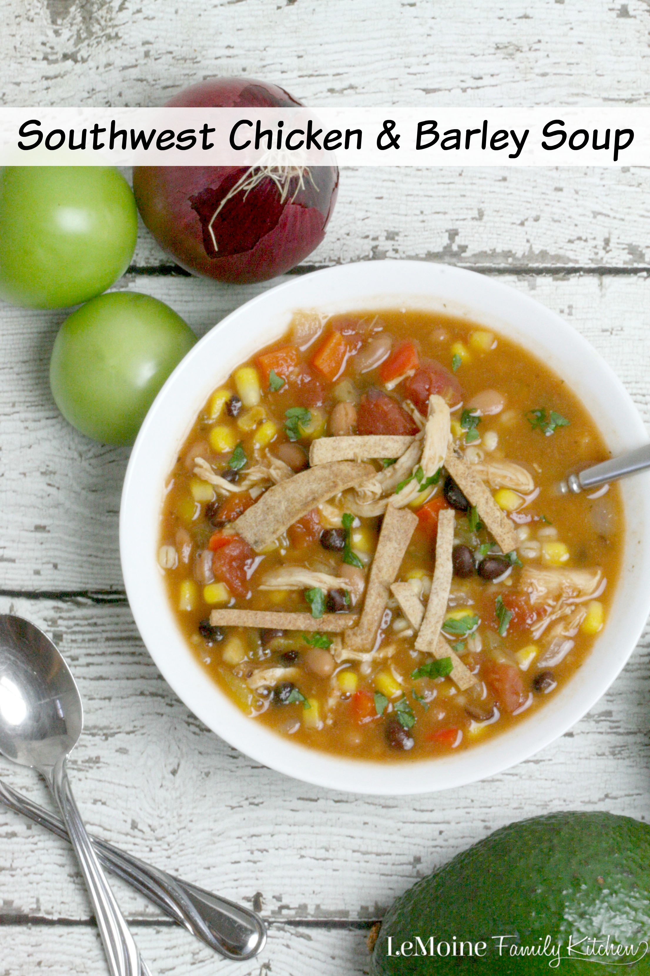 Southwest Chicken & Barley Soup