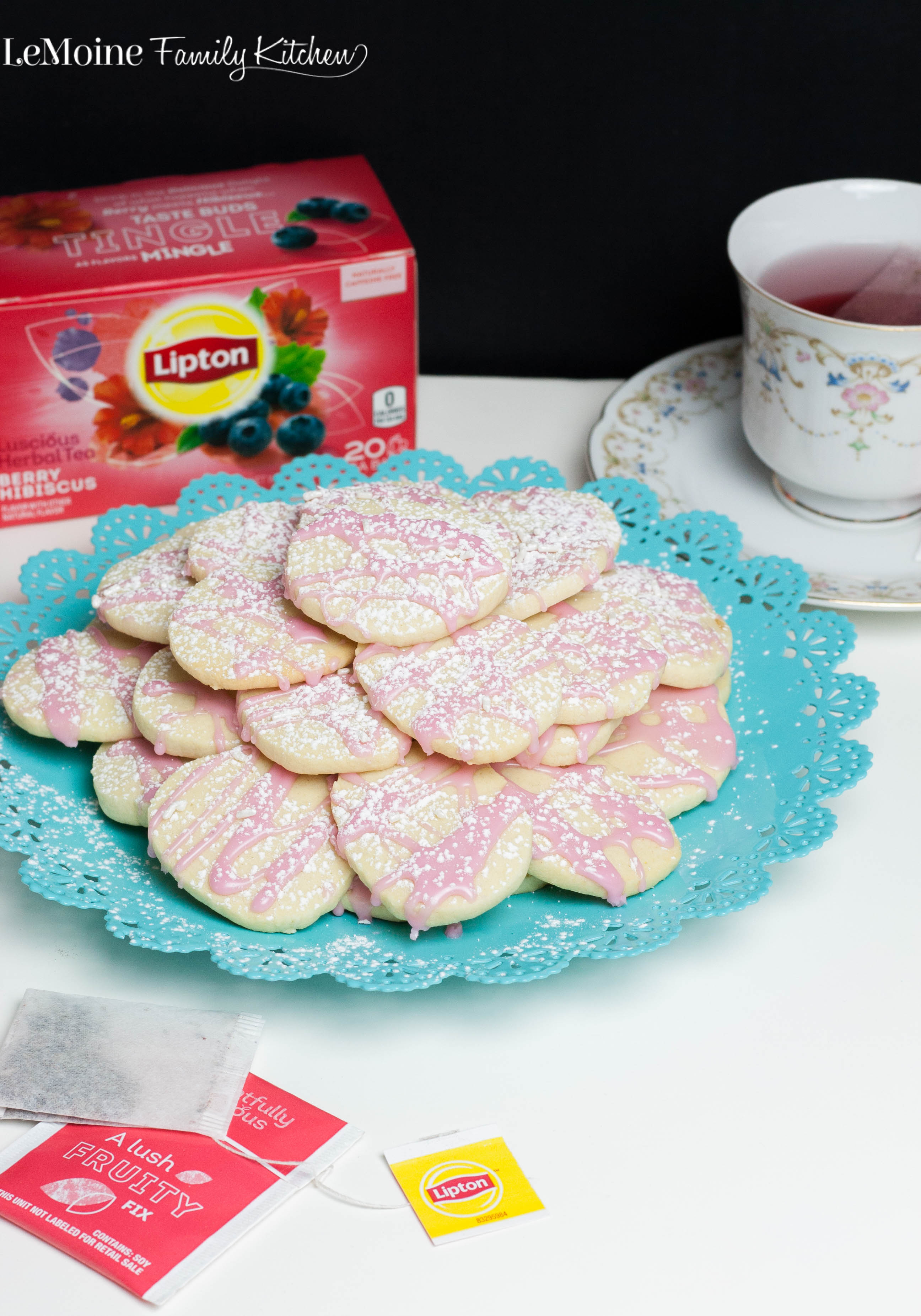 Berry Hibiscus Glazed Shortbread Cookies PLUS How to Throw a Brunch