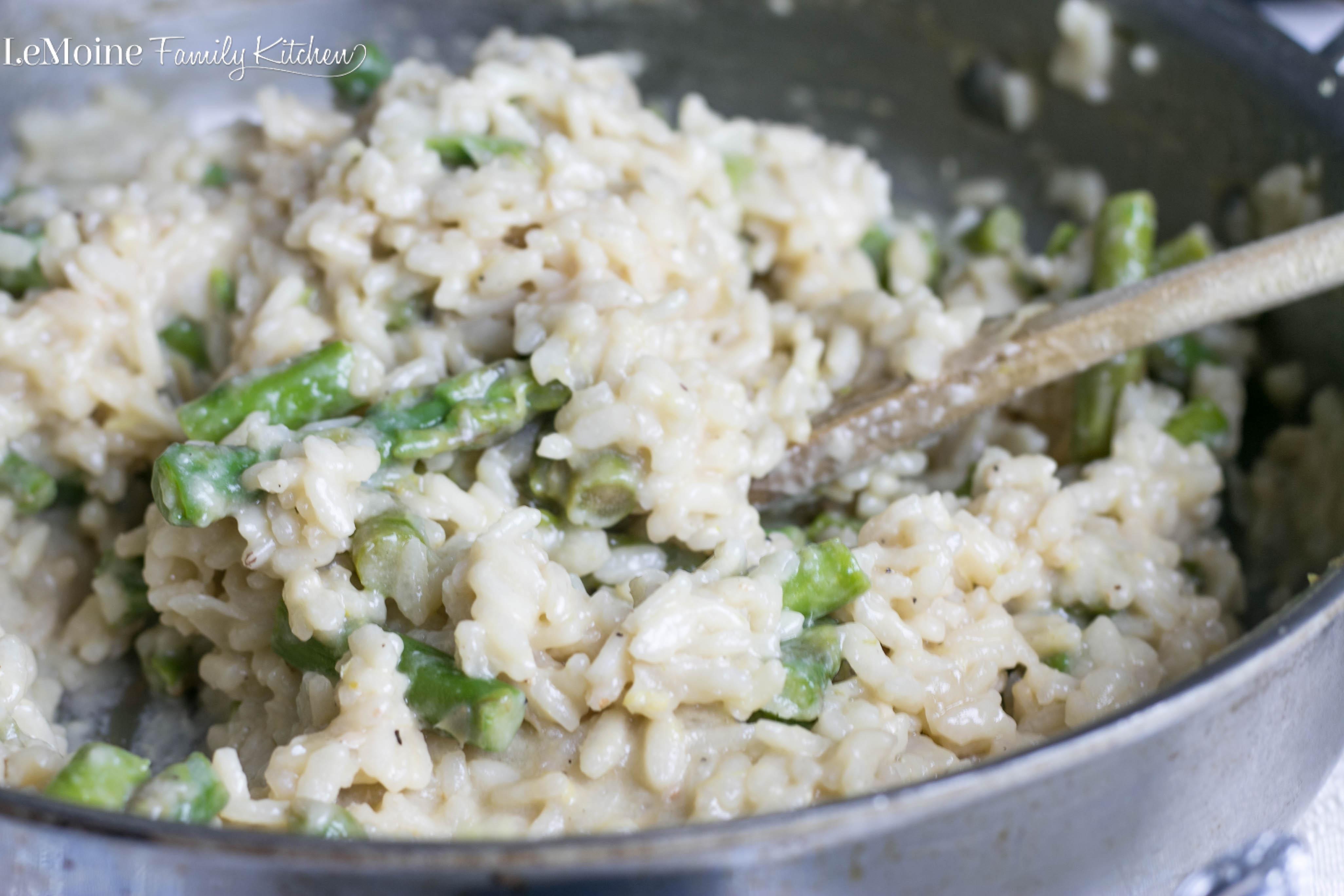 Lemon Asparagus Risotto | LeMoine Family Kitchen . Easy and elegant ...
