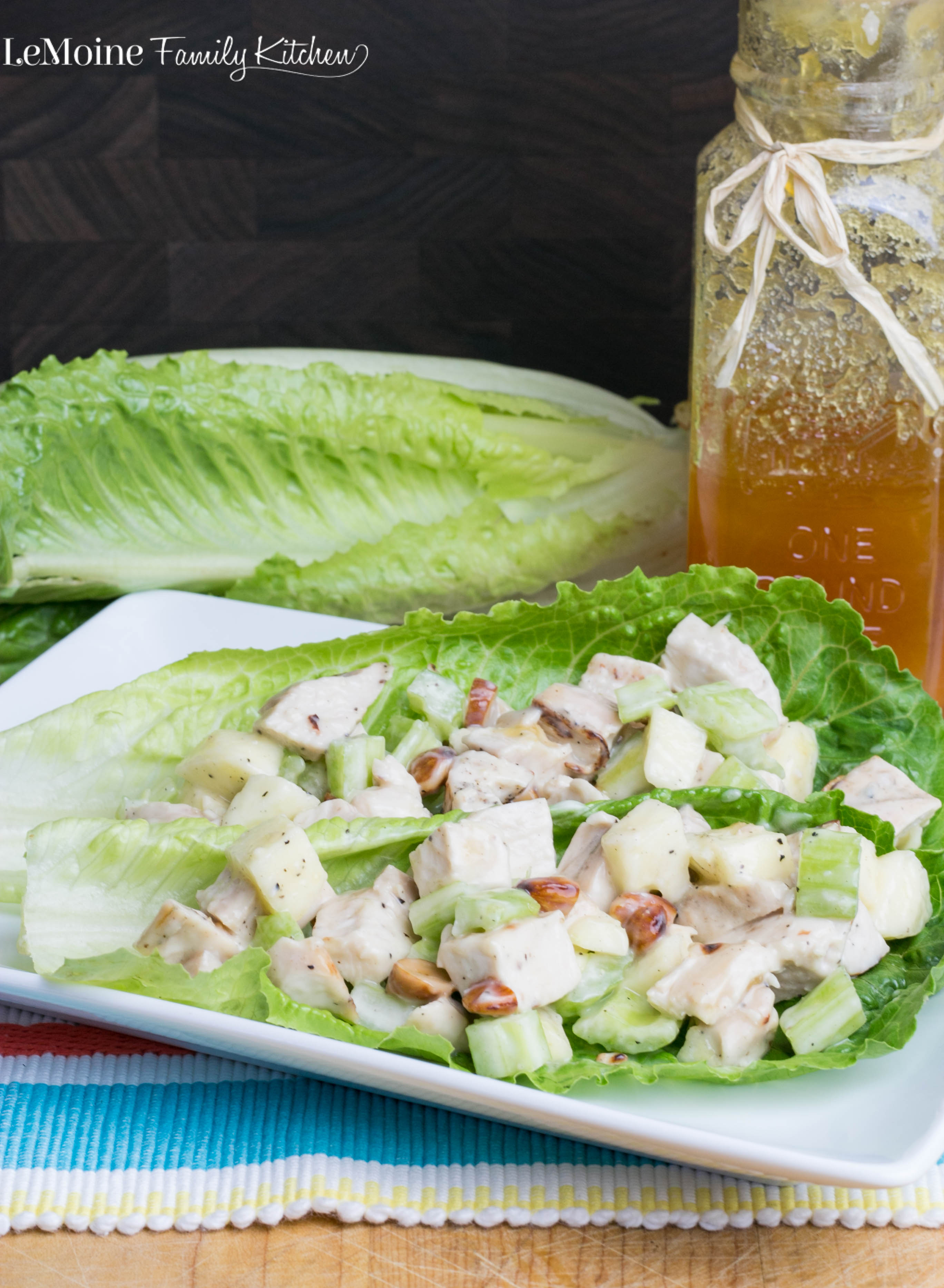 Apple Chicken Salad | LeMoine Family Kitchen . A light and refreshing chicken salad that is packed with great flavor, texture & color! #FreakyFriday