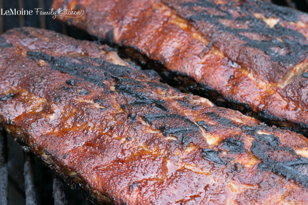 Dry Rubbed Baby Back Ribs | LeMoine Family Kitchen . A little sweet, a little salty and just a little kick of chili powder! This is my go to dry rub for grilling season!