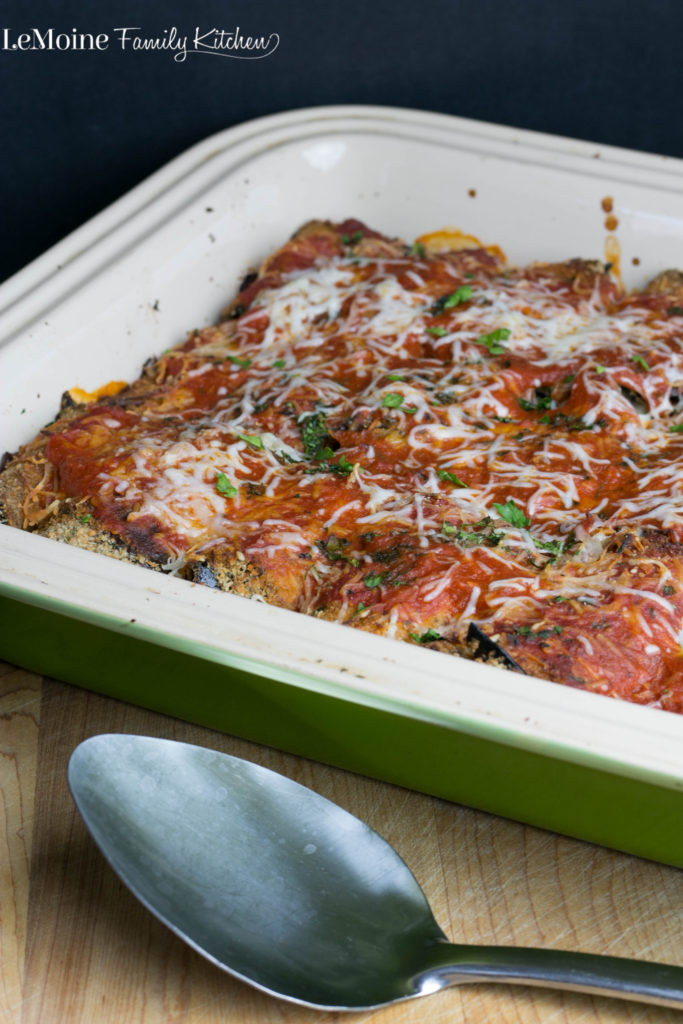 Eggplant Rollatini | LeMoine Family Kitchen . Classic Italian dish. Thinly sliced eggplant breaded and baked then rolled with a delicious cheese mixture. Covered in sauce and more cheese. Whats not to love there!