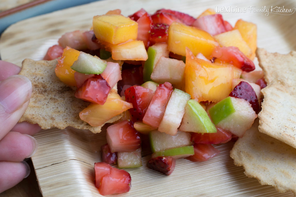 Fresh Fruit Salsa with Lime & Honey | LeMoine Family Kitchen . A bright, easy & refreshing snack or dessert. This screams warmer weather and Mothers Day too!