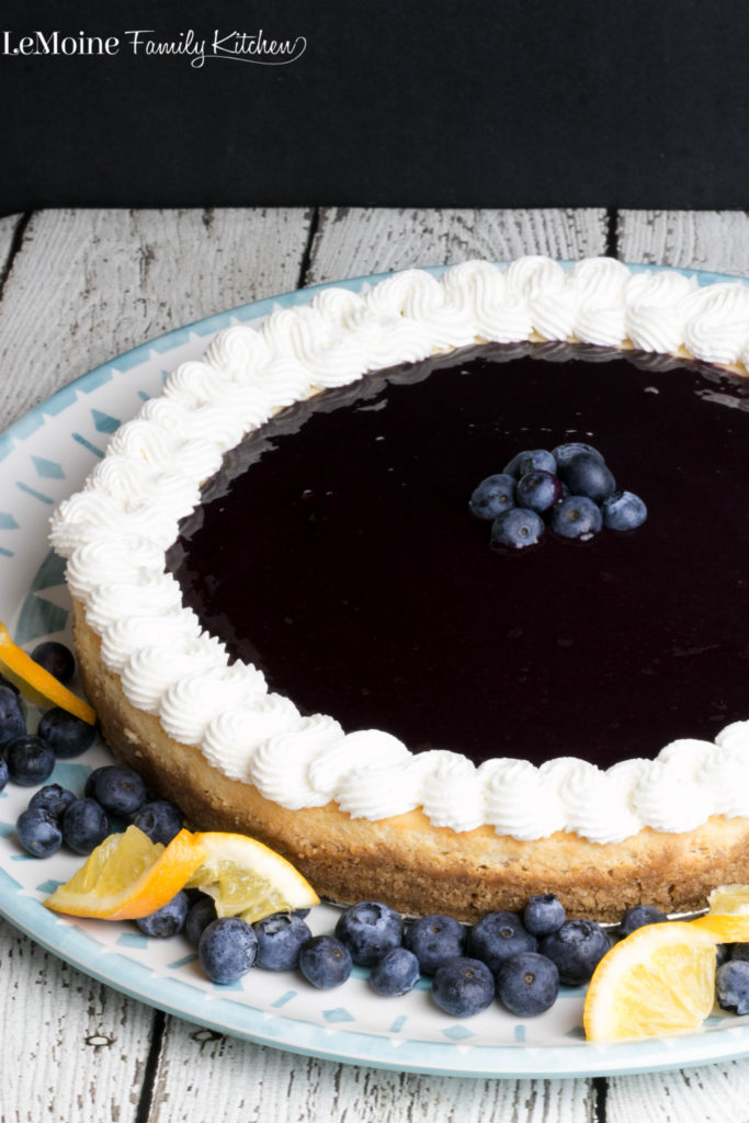 Meyer Lemon & Blueberry Cheesecake . Absolutely delicious dessert that will truly impress! Sweet meyer lemons bring an incredible brightness to this cheesecake. And that fresh blueberry sauce over top is a perfect burst of flavor.