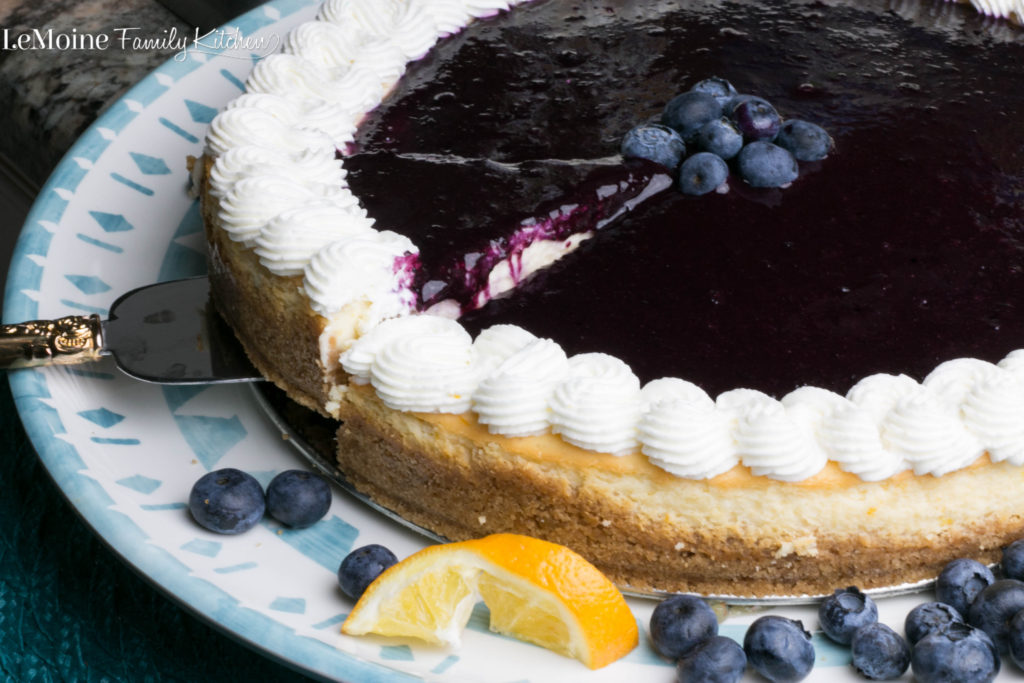 Meyer Lemon & Blueberry Cheesecake  | LeMoine Family Kitchen