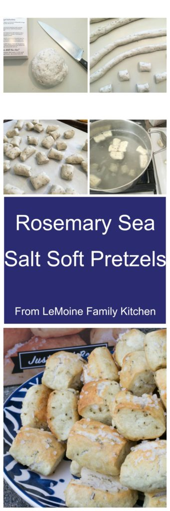 Rosemary Sea Salt Soft Pretzels. From Boardwalk Food Co. these pretzels are super simple to make and absolutely delicious! Stock up and have these on hand for get togethers with friends and family. #ad