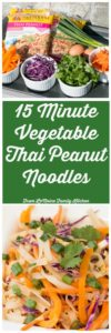 15 Minute Vegetable Thai Peanut Noodles . Thanks to the ease of Fortune Noodles, this dish is quick to throw together and so flavorful! Tons of crisp bright vegetables tossed with rice noodles and a spicy thai peanut sauce. #ad