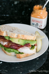 Turkey Avocado BLT with Chipotle Mayo. Talk about a fantastic, flavor packed sandwich! This one takes a traditional BLT to the next level with the addition of turkey, creamy avocado and smokey chipotle mayo! #ad #degustabox