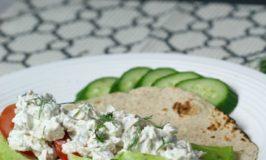 Tzatziki Chicken Salad Wraps