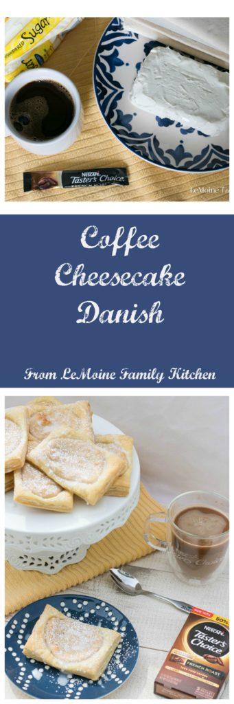 Coffee Cheesecake Danish is a simple and delicious breakfast treat or afternoon snack to enjoy with a cup of coffee. #ad