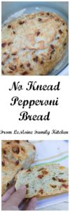No Knead Pepperoni Bread. Homemade bread is so easy to make! This one is packed with big Italian flavor!