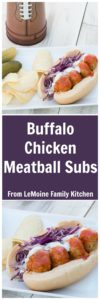 Buffalo Chicken Meatball Subs . Football season is here and sure theres the game but for me its all about the tailgating eats! This is a perfectly spicy sandwich that you really need to make! So good!
