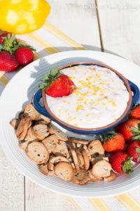 Lemon Strawberry Cheesecake Dip