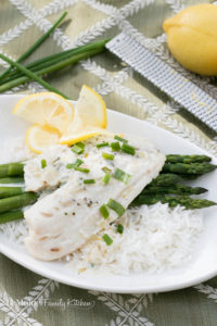 Tilapia with a Lemon Cream Sauce. Hosting a holiday get together doesn't have to be complicated to be delicious Thanks to Bumble Bee SuperFresh®! This fabulous meal is on the table in under 25 minutes! #BBSuperFresh #SeaFoodies #ad