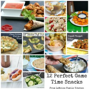 12 Perfect Game Time Snacks! Football season is so delicious with these incredibly tasty recipes that are sure to be crowd pleasers!