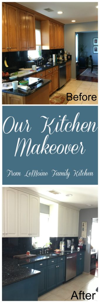 Our Kitchen Makeover... we finally took the plunge! Lets just say that we didn't love our kitchen in our new home. We decided it was time to put my chalk painting skills to the test and give our kitchen a much needed update. We couldn't be more thrilled with the results!