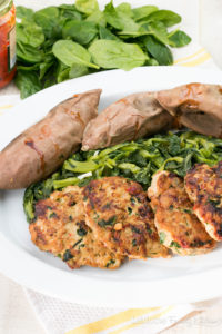 Spinach, Roasted Pepper & Mozzarella Chicken Burgers