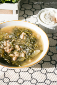 Escarole & Bean Soup. Rustic, simple Italian bowl of comfort right here. Dinner is on the table in 30 minutes with this delicious recipe.