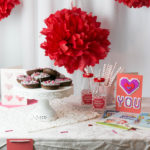 Easy Chocolate Valentine's Donuts {PLUS a FREE Valentine's Menu Printable!}