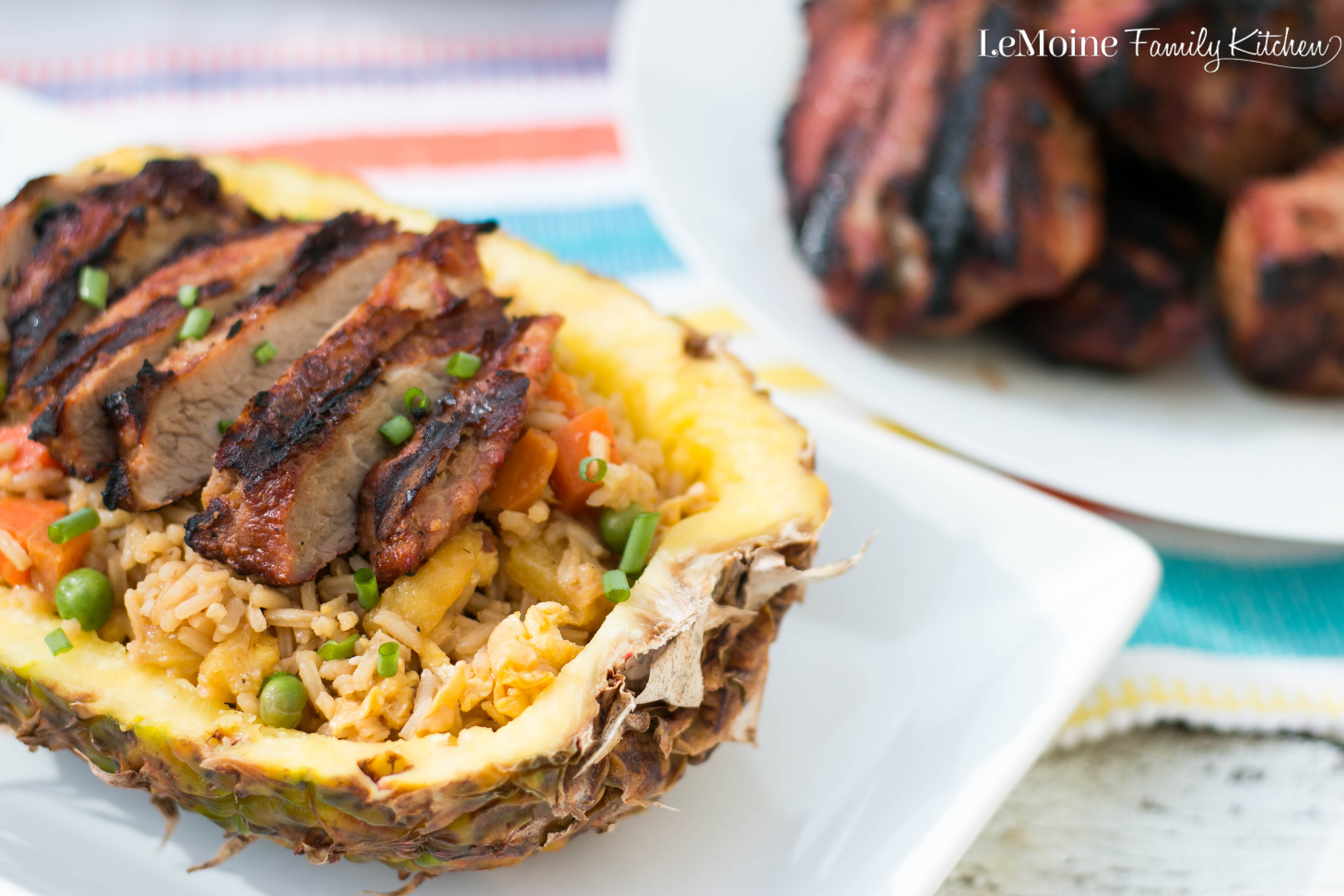 Grilled Pork with Pineapple Fried Rice - LeMoine Family ...