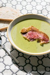 Spring Pea Soup with Crisp Prosciutto