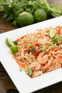 These Shrimp Pad Thai Noodles are out of this world delicious! Its easy to make, perfect for a weeknight dinner and so packed with gorgeous color and flavor. You are going to want to make these asap!