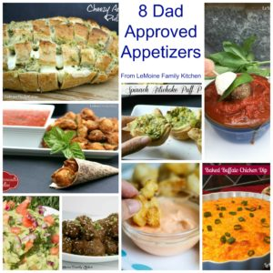 8 Dad Approved Appetizers. We've got you covered for Fathers Day or any summer get together. These appetizers will WOW!