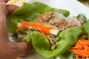 Asian Chicken & Rice Noodle Lettuce Wraps. A delicious, light and healthy summer meal or appetizer! Easy to make, great flavor, texture and colors. Perfection!