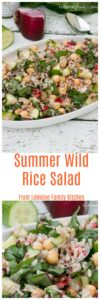I'm obsessed with this Summer Wild Rice Salad. It is simple to throw together, full of great flavor and crunch from the fresh veggies. Its hearty and healthy... a perfect dish for these hot summer days.