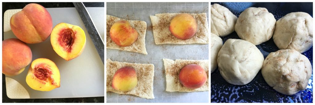 Easy Peach Dumplings. Just in time for those perfect sweet summer peaches. This dessert is easy and outrageously delicious!