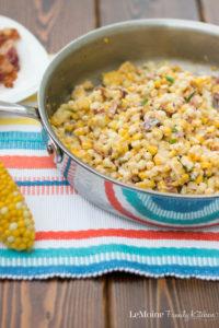 Creamy Skillet Corn with Bacon