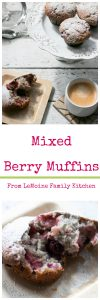 """To quote my husband """"these may be the best muffins you ever made"""". So yea you all have got to try these Mixed Berry Muffins! They are soft on the inside, crisp top and chock full of berries! A wonderful breakfast treat, addition to a brunch spread or an afternoon snack with your tea/coffee."""