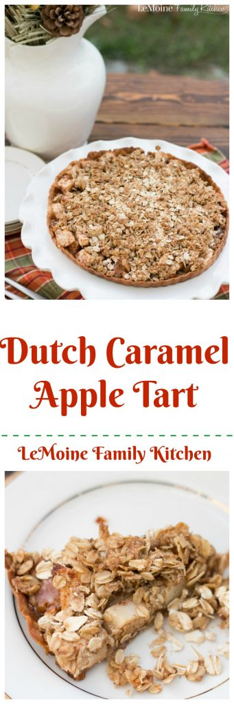 I love apple season! We are lucky enough here in NJ to have plenty of local farms to go and pick our own. This Dutch Caramel Apple Tart is such a perfect Fall dessert. Grab a scoop of ice cream or whipped cream and dig in!