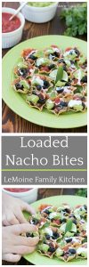 Loaded Nacho Bites. Tailgating season is here and these are the perfect little bites & vegetarian too!!! {ad} #SealsForGood