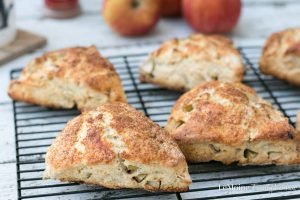 Combining two fabulous things with this one... apple season and my incredible scones! Yea, self proclaimed scone enthusiast. These Apple Cinnamon Scones are a perfect Fall treat! For breakfast, brunch or an afternoon snack these scones will totally hit the spot!