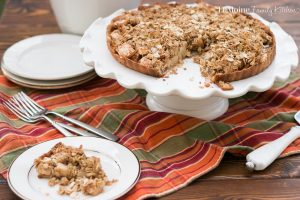 I love apple season! We are lucky enough here in NJ to have plenty of local farms to go and pick our own. ThisDutch Caramel Apple Tart is such a perfect Fall dessert. Grab a scoop of ice cream or whipped cream and dig in!