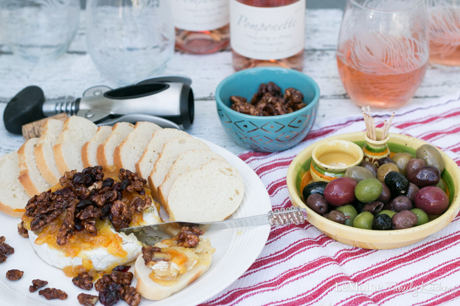 Fall is such a beautiful time of year. The crisp chill in the air, the gorgeous colors on the trees and the flavors of the season. This Baked Brie with Orange Marmalade, Walnuts & Cranberries is a wonderfully delicious Fall inspired appetizer that happens to pair perfectly with Rosé Wines of Provence.  {ad} #FallintoRosé #Roséallyear