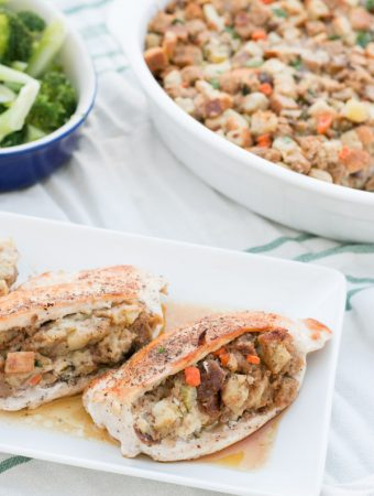 Apple Chestnut Stuffing Stuffed Chicken Breasts