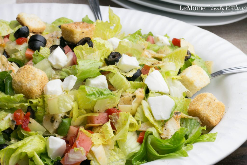 Chopped Antipasto Salad! A perfect side salad or turn into a meal with pizza or grilled chicken.