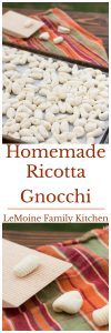 Maybe its the cooler weather but I've been playing with making fresh pasta more often lately. I've made pappardelle, fun squares for soup and today I'm sharing with you myHomemade Ricotta Gnocchi. Theres something verysatisfying making these gnocchi- they arebeautiful and delicious.